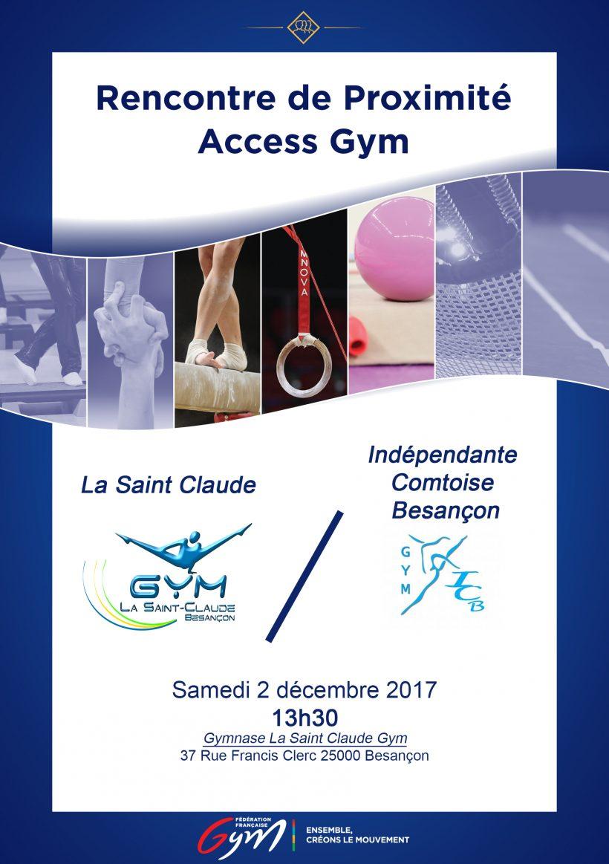 Affiche rencontre de proximité Access Gym